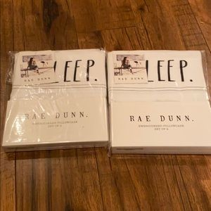 Rae Dunn 4 sleep pillowcases